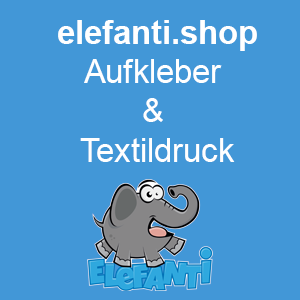 Elefanti.shop - Aufkleber & Textildruck